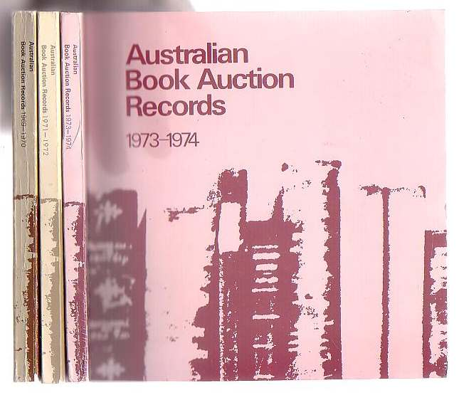 Image for Australian Book Auction Records 1969-1970, 1971-1972, 1973-74 [3 volumes]