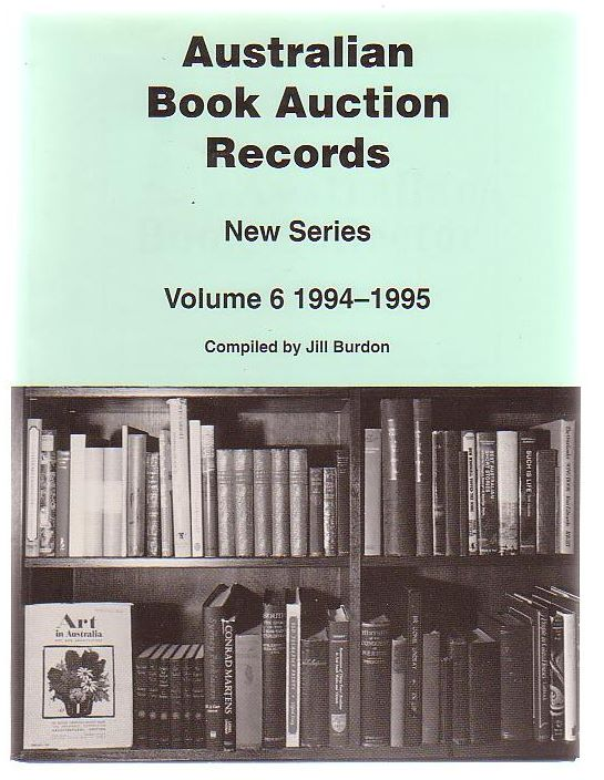 Image for Australian Book Auction Records New Series Volume 6 1994-1995