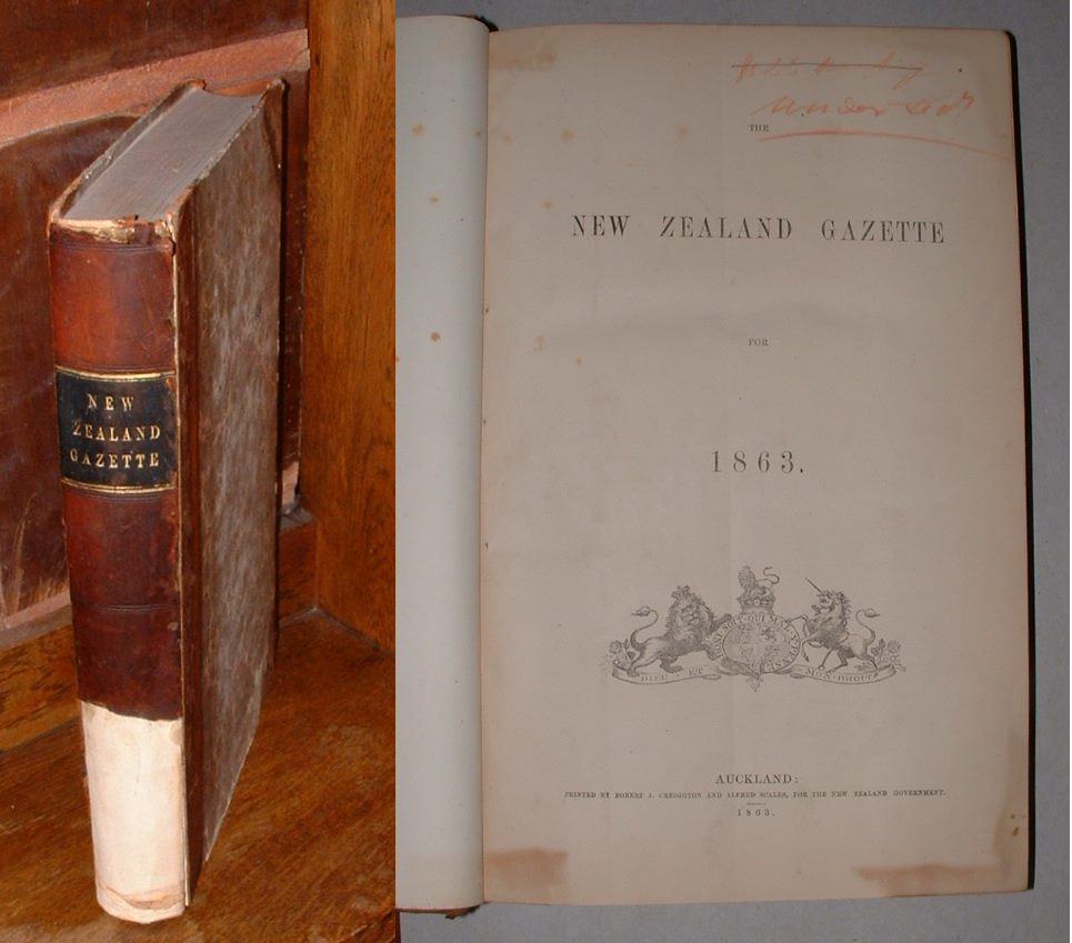 Image for The New Zealand Gazette for 1863
