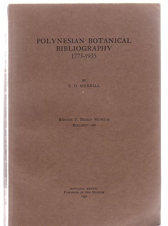 Image for Polynesian Botanical Bibliography 1773-1935